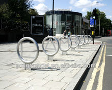 Stainless steel outdoor high security customized design with letters and logo Bicycle Bike Rack