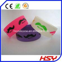de silicona de moda banda de bigote con bigote debossed logotipo