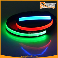 2015 led light safety night visible pet collar for dog light up led dog collar products