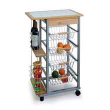 tempered glass dining serving cart,hotel trolley cart with direction wheels