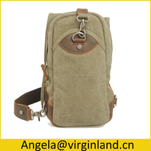 897 Vintage Men's Casual Canvas One Strap Sling Back Bag for Touring with Fancy Design