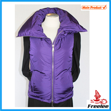 Freelee Fashion High Quality Purple Puffy Sleeveless Puffer Vest for Ladies