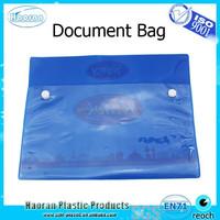 Clear plastic envelop button bag