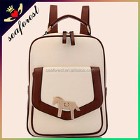 Horse pattern fashion small shoulder bag,PU leather korean girls backpack shoulder bag