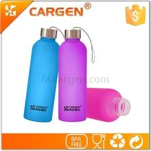 Convenient for outdoor activities hiking necessity custom glass tea bottle