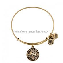 Hot New Products For 2015 University Of Alabama Logo Pendant Bangle, Alex And Ani Antique Gold Bangle Bracelets