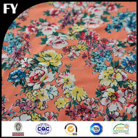 Factory custom printed 100% organic cotton fabric