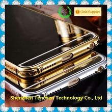 Wholesale Luxury Clear Compact Lighted Soft Mirror Case For Iphone 6 plus Back Cover Case