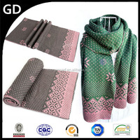 GDK0015 Popularity models yong girls knit digital snow flora printed shemagh scarf