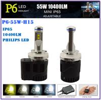 12-24V 55W 10400LM H15 skoda octavia LED front headlights,led headlight bulb for honda vezel,harley davision headlight