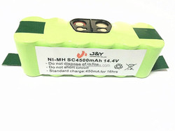 replacement battery pack nimh sc 14.4v 4500mah for robotic roomba 880