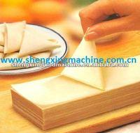 High quality gas heating samosa leaves machine samosa sheet/samosa pastry/ samosa wrapper machinery (manufacturer)