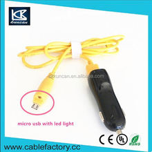 KUNCAN bare copper multi usb connector cable AWM 2464 20AWG AM to micro USB 5V 2.1A yellow cable