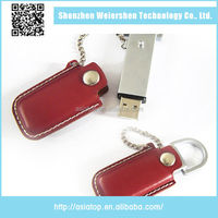 Latest Design USB 2.0 8Gb Leather bulk cheap usb flash memory