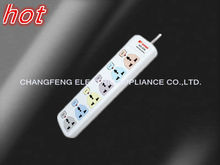 6 gang universal multi switch plug socket