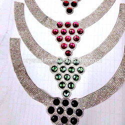 Tear drop crystal trimming stones for dog collar, rhinestones for dog collar decorating