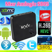 Amlogic S805 Quad Core MXV HD 1080P RJ45 Newest XBMC Kodi Dual 2.4GHz/5GHz WIFI 3G Android 4.4 MXV Smart TV Box