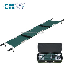 Folding ambulance stretcher with package