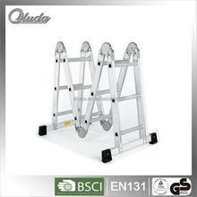aluminum telescopic folding multi purpose ladder 4x2
