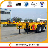Shipping container chassis carrier 20ft & 40ft flatbed chassis on sale