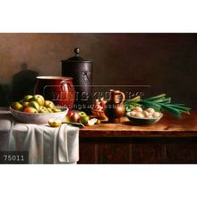 Handmade Impressionist famous Still Life Fruit Oil Painting on canvas, Still Life With Food