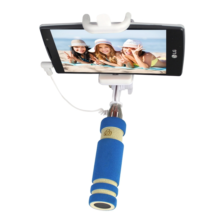 extendable selfie stick holder mount monopod with clip for for iphone 6 plus. Black Bedroom Furniture Sets. Home Design Ideas