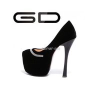 GD 2015 Sexy ladies 6.5cm platforms high heels shoes new model 15cm womens high heels shoes
