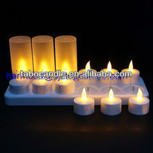 white tealight flame battery led/electric tea light candles