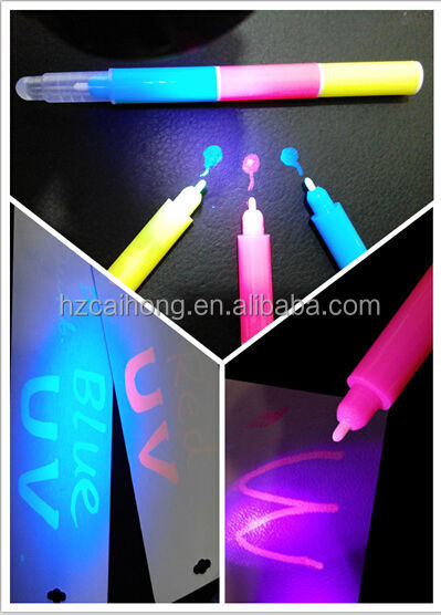 Ch6009 invisible ink pen permanent uv marker detective for Invisible ink tattoo removal price
