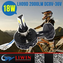LW DC8V-36V 18W 2000LM police lights led motorcycle for visteon headlight