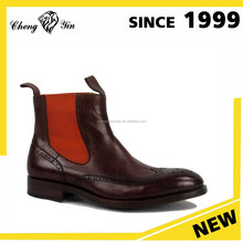 china wholesale alibaba Latest Design high quality genuine leather comfort ankle men boots shoes made in china