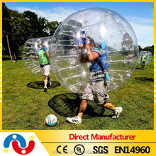 Hot crazy loopy ball inflatable sumo bumper ball bubble football for sale