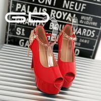 Sexy sandal OL shoes high heels thin heels women's high heels shoes