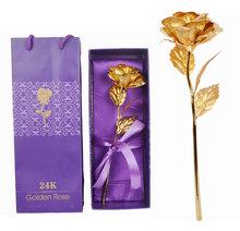 2015 24k gold foil rose flower thanksgiving gift