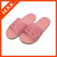 Rubber pink women shoes PVC slipper