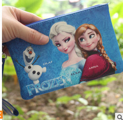 new product frozen elsa wallet elas and anna cosmetic bag for girls frozen pattern makeup bag wholesale