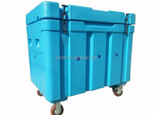 insulated dry ice cooler box /dry ice bunker adopt rotational molded