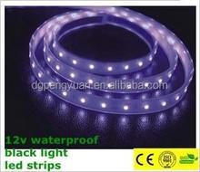 12v waterproof black light led strips high luminance cheap