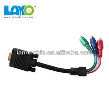 Excavator rca coaxial audio & vedio vga cable adapter