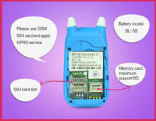gps id card/child personal tracker sos emergency mobile phone Senior big button phone