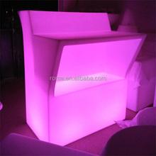 Glowing bar nightclub furniture illuminated led bar counter