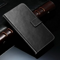 Fashionable genuine leather snap on phone case pouch for Samsung Galaxy S5 I9600 wallet replacement stand function