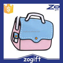 ZOGIFT factory sell 54 style 3D Popular Kids School Bag &backpack for Back To School