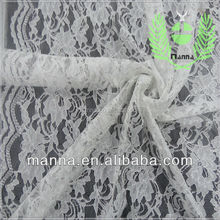 100 Nylon floral lace with cord fabric for wedding dress