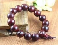 Supply DIY fashion lots 15 piecs 15mm diameters rosewood beads bracelets China jewelry