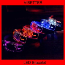 New design 2014 Sound Activated LED Bracelet super bright led bracelet for happy new year