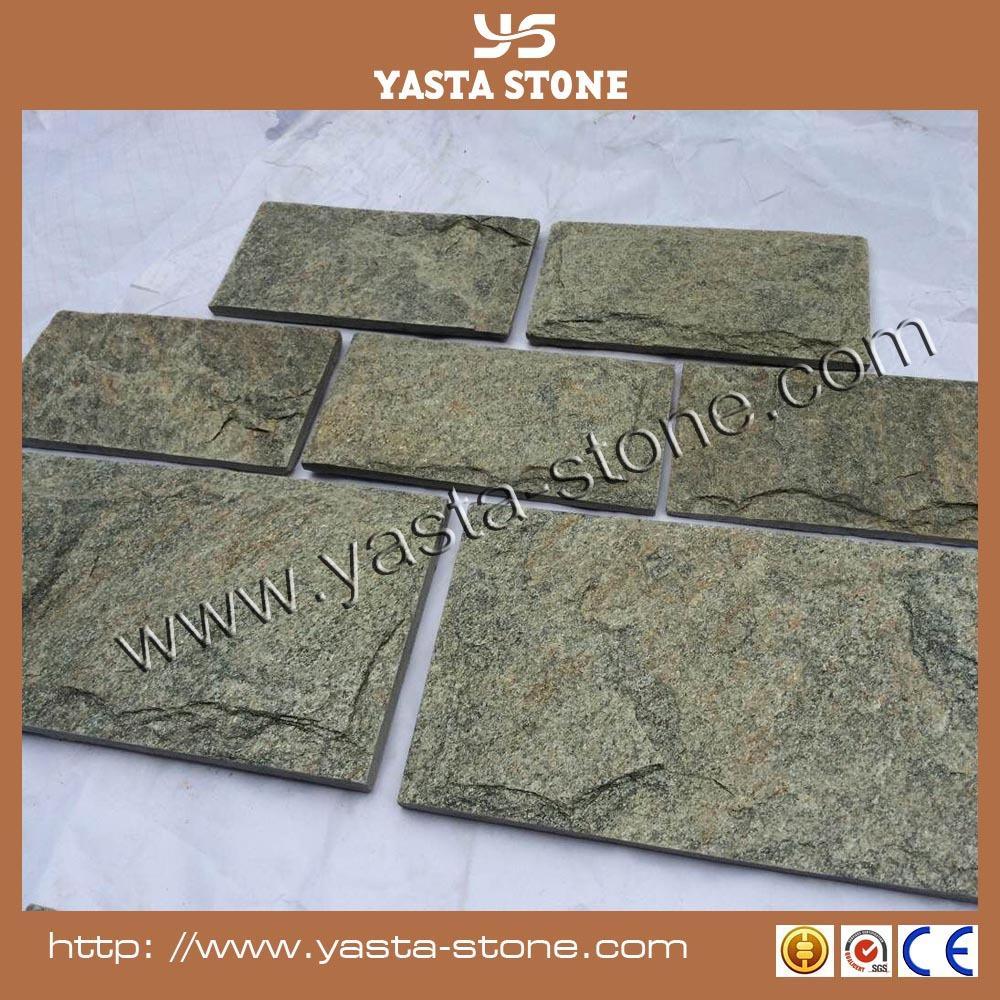 녹색 quartzite 자연석 외부 벽 cladding 분할-석영 석재 -상품 ID ...