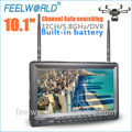 10.1 pulgadas inalámbrico diversidad dual 32ch receptor av uso para el mini helicóptero motor