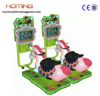 """3D swing racing horse/High Quality - 3D Golden Horse - Coin Operated Swing Kiddie Rides Rocking with 17""""Video Game"""