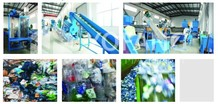 PET bottle flakes washing and cleaning line,plastic recycling